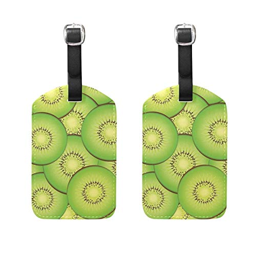 Luggage Tags Kiwi Fruit Womens Baggage Tag Holder Airplane Travel Accessories Size 2.2 X 3.7 inches RTUHHRFD00S32820