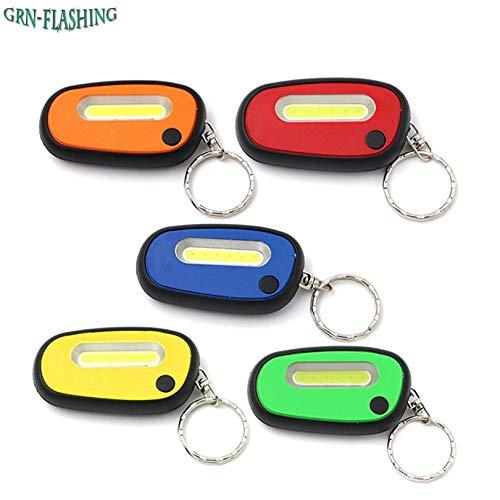 Blanc et rouge : mini porte-clés LED COB lampe de poche lampe de poche lampe de poche porte-clés lampe torche lampe torche pour cyclisme, escalade, randonnée en plein air