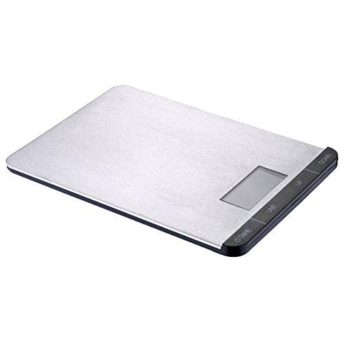 Swiss Home Q2184 Balanza de cocina 5 kg, Acero