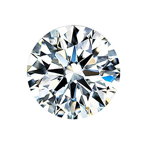 Oriental Best 2ct 8mm Moissanite DF Colorless Simulated Diamond Loose Stone Round Brilliant Cut Excellent Cutting VVS Clarity for Jewelry Making