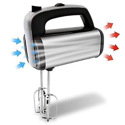 NWOUIIAY-Handruehrer-300W-Edelstahlkneter-Handmixer-mit-Haken-und-Schneebesen-Suesswarenmischer-mit-5-Geschwindigkeiten-zum-Schlagen-von-Eimilch-und-Teig