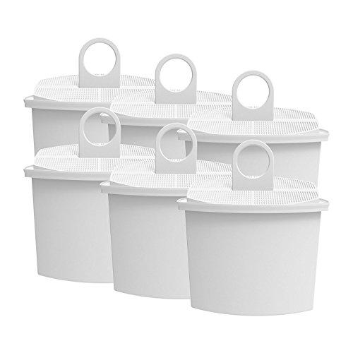 AquaCrest AQK-12 Kompatibler Kaffeemaschinen Wasserfilter Ersatz für Braun KWF2; Aroma Select KF130, KF140, KF145, KF147, KF150, KF155, KF160, Aroma Passion KF550, KF560, KFT150, KK148 (6)