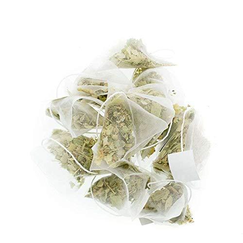 Aromas de Té - Tila Infusión Relajante 100% Natural/Tila Efecto Relajante para Infusionar 100% Origen Natural Sabor Suave en Bolsitas, 20 Pirámides