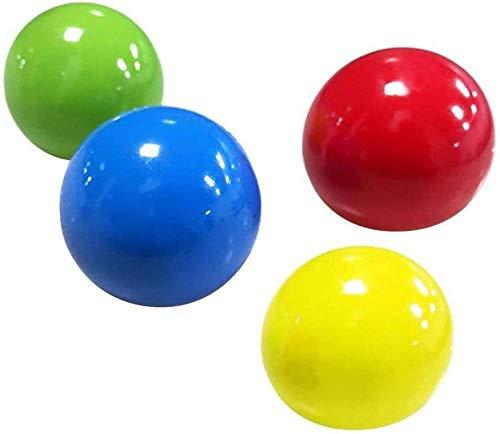 Bolas para aliviar el estrés Juego de Dodgeball Pelota de Malabares Juego de Pelota pegajosa Bola de Captura para niños Adultos Que sePuede Pegar al TechoJuguetespara aliviar elestrés