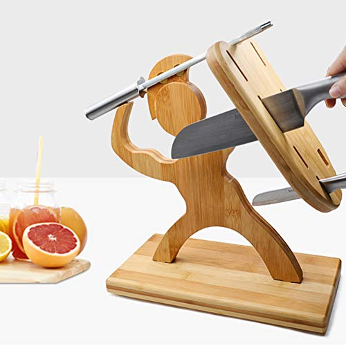 RHSML Menschlich Geformter Messerhalter, Aus Holz, Starke Adsorption, Mehltau Beständige, rutschfeste Matte Multifunktionales Haushaltslagerregal