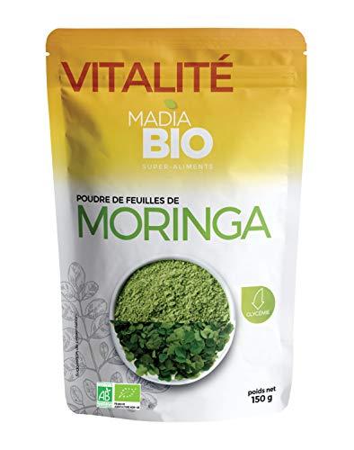 Madiabio - Vitalité - Poudre de Moringa 150 g - BIO - Super-aliment ; Glycémie