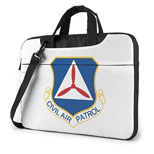 15,6 Zoll Civil Air Patrol Cap Befehl Laptop Umhängetasche Aktentasche Notebook Bussiness Handtasche