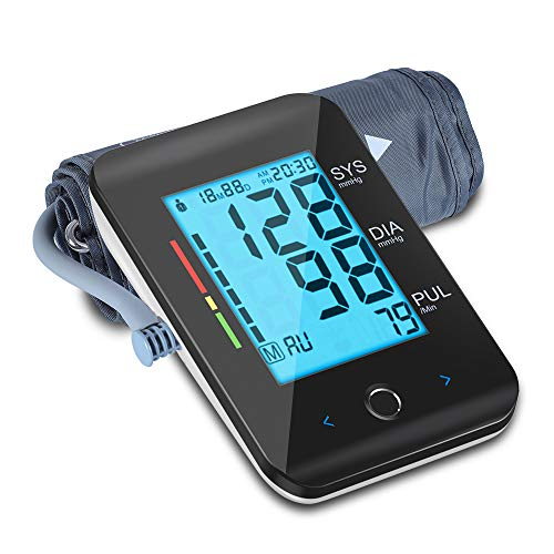 """ALPHAGOMED Blood Pressure Monitor- Automatic Blood Pressure Cuff for Home Use Digital Upper Arm Blood Pressure Monitor with 8.7-16.5"""" BP Cuff- Touch Key Backlit Screen- 2 Users Mode- 180 Set Memories"""