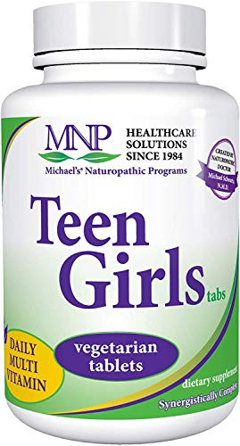 Michael's Naturopathic Programs Teen Girls - 90 Vegetarian Capsules - Daily Multivitamin & Mineral Supplement with B Complex Vitamins & Female Herbal Blend - Kosher - 45 Servings