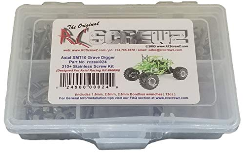 RCScrewZ Stainless Steel Screw Kit axi024 Compatible with Axial SMT10 Grave Digger MT (#90055)