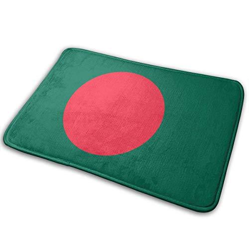 バングラデシュの国旗 屋内屋外ドアマットラグフロアマット滑り止め寝室用バスルームリビングルームキッチ...