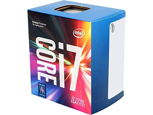 Intel Core i7-7700 - Procesador con tecnología Kaby Lake (Socket LGA1151, Frecuencia 3.6 GHz, Turbo 4.2 GHz, 4 Núcleos, 8 Subprocesos, Intel HD Graphics 630), Plata