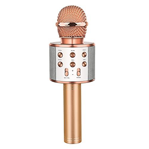 LetsGO toyz Bluetooth Microfono Karaoke per Bambini, Giocattolo e Regalo - Regalo Ragazza Portatile Karaoke Microfono Giocattoli per Bambini 4-15 Anni Regali di Natale Bambina 4-15 Giochi Bambina
