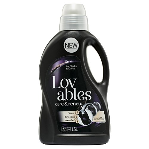 Lovables Care and Renew, for Blacks and Darks, Liquid Laundry Washing Detergent, 1.5 Liters