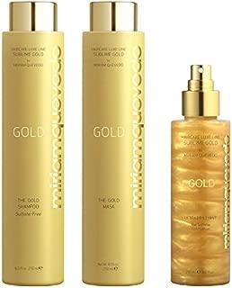 MIRIAM QUEVEDO Mediterraneum Sublime Gold Holiday Set ~ Shampoo 8.5 oz ~ Mask 8.5 oz ~ Lotion 5.07 oz