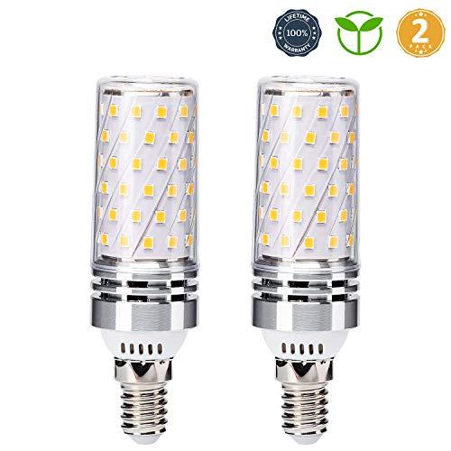 E14 LED Kerzen birnen 16W Entspricht 120W Halogen birnen, E14 Warmweiße 2700K, E14 Energiespar lampe, E14 LED Maiskolben Birnen, Kein Flackern, Nicht dimmbar, 1400lm, AC 175-265V, 2er-Pack