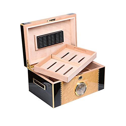 TYX HOME Piano Paint Luchtbevochtigers Cederhout Dubbele sigaardozen kunnen verschillende smaken onderbrengen (Capaciteit van ongeveer 100)