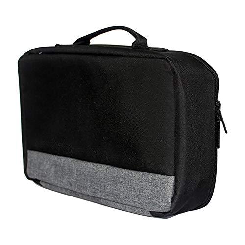 YHUS Projektor-Tragetasche, Projektor-Tasche mit Griff, tragbar, universelle Drucker-Aufbewahrungstasche, für die meisten Projektoren (grau-schwarz)