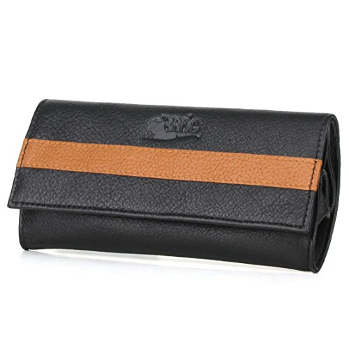 Pipe Tobacco Roll Up Pouch - Nappa+Camelo Leather - [Black+Tan]