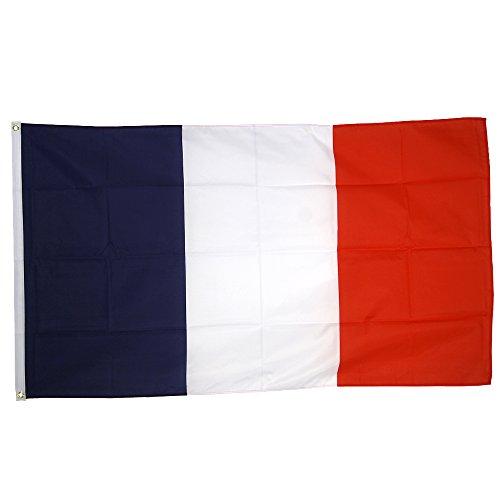 Supportershop France - Banderín de córner para fútbol, Color Azul/Blanco/Rojo, Talla FR: 1,50 x 0,90 m