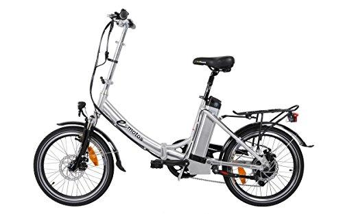 e-motos Alu Pedelec K20 Faltrad Klapprad E-Bike mit Li-Ion Akku (19Ah)
