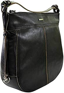 Kaizer KNI1871BLK Leather Shoulder Bag for Women - Black