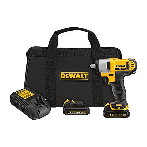 DEWALT DCF813S2 12-Volt Max 3/8-Inch Impact Wrench Kit