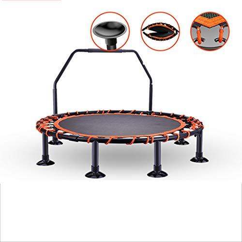 GDD Fitness-Trampoline Mini-Trampolin für Kinder Mit Griffen - Indoor-Fitness-Backboard-Trampolin für Jungen Und Mädchen Maximale Belastung 150 Kg Innentrampolin (Color : Orange, Size : 3)