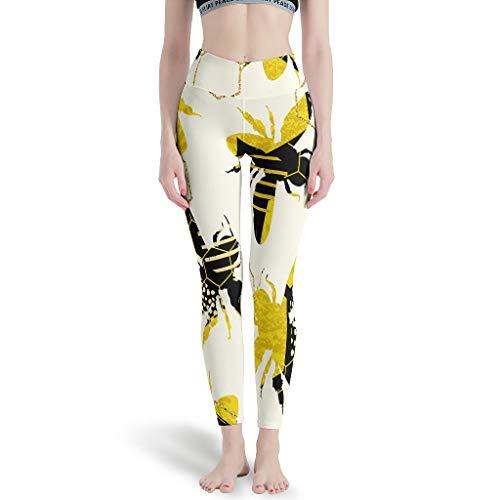 LPLoveYogaShop - Leggings para mujer, diseño de flores y abejas, bonitos y finos, para montar a caballo White7 XL