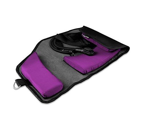 Neck Trainer - Amaca per collo regolabile. Dispositivo di trazione del collo per cervicale. Ideale per dolore al collo, mal di testa, torcicollo e problemi di postura. Colore viola.