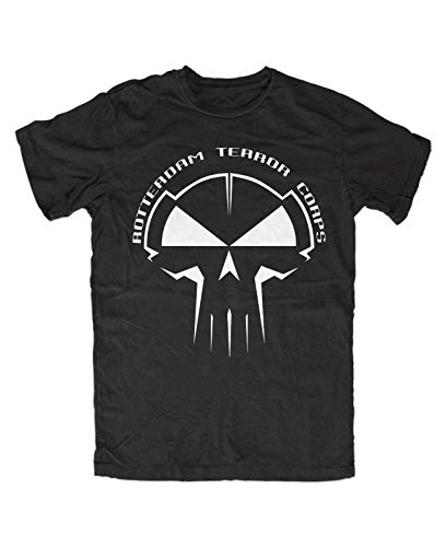 Rotterdam Terror Corps T Shirt Mens Summer Fashion tee Shirt, Schwarz Hardstyle Gabba Hardcore Techno