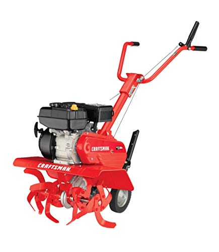 Craftsman 340 Series 208cc 12-Inch Pull Start Gas Powered Front Tine Tiller, Liberty Red