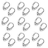 My-Bead 10 Paar Brisuren 925 Sterling Silber Klapp- Ohrringe 18mm nickelfrei Allergiker geeignet in Juweliers- Qualität DIY