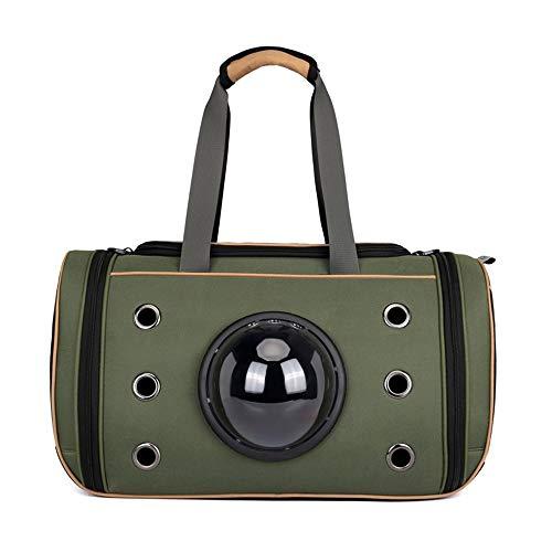 Stella Fella Green pet handbag portable space capsule cat dog backpack multi-function outdoor travel