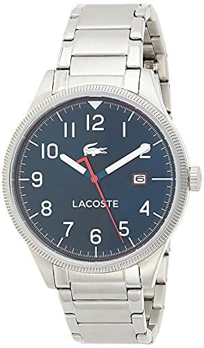 Lacoste Herren Analog Quarz Armbanduhr mit Edelstahlarmband 2011022