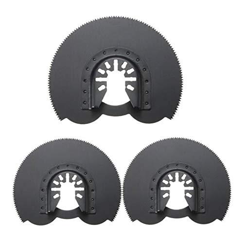 Conveniente La circular vio las láminas, 3 88 mm Hojas de sierra semicirculares Flush, Swing Accesorios multi-herramienta, la herramienta de oscilación herramientas de uso doméstico ( Color : Black )