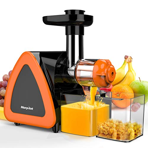Juicer Machines, Keenstone Cold Press Juicer Machine, Reverse Function, Slow Masticating Juicer, Easy to Clean with Brush for High Nutrient Fruit & Vegetable Juice, Quiet Motor juicer