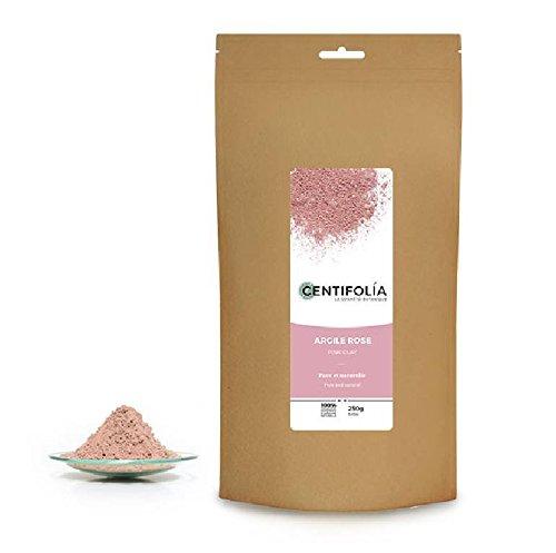 CENTIFOLIA - Argile rose - Pure - Soin du visage - Peau facilement rougie, sèche, sensible et mature - Hydrate et adoucit - 100% naturel - 250 gr
