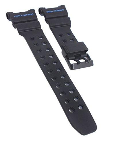 herrenuhrarmband Casio | Ersatzband für-1AER Frogman Resin schwarz für gwf-d1000