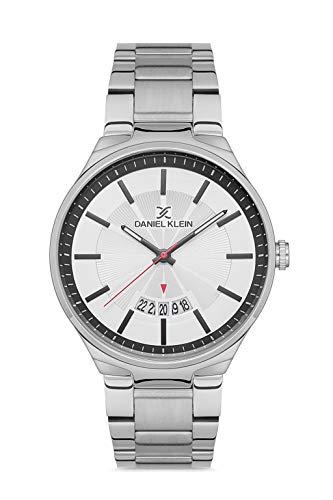 Daniel Klein Reloj de pulsera para hombre (DK12581) – Correa de acero inoxidable – Relojes analógicos de moda para hombre de 44 mm – Movimiento de cuarzo japonés – Índices de bastón – muchos colores