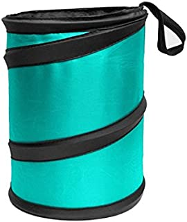 FH Group FH1120MINT Mint Car Garbage Trash Can (Collapsible and Compact)