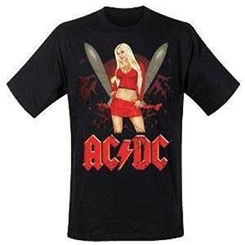 AC/dC t-shirt missile girl taille l