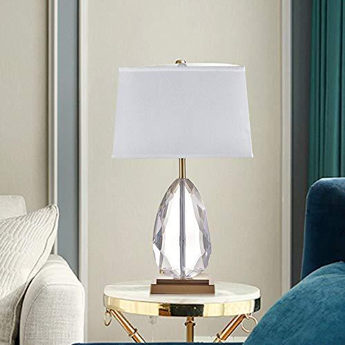 Kristall Tischlampe, Modern Light Luxus Kristall Tischlampe Wohnzimmer Schlafzimmer Atmosphärisches Modell Hotel Projekt Lampe Mode Stoff Tischlampe