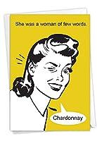 NobleWorks 数言葉 - 誕生日グリーティングカード 封筒付き (4.63 x 6.75インチ) - ウィンクドリンカー C3296BDG