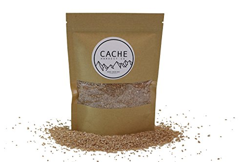 Non-GMO Organic Cracked Wheat | 100% Organic | Hard Red Winter Wheat | The Best Wheat In The World | Grown in the Rocky Mountains | Resealable Packages | Cache Harvest Co. Premium (16 Ounces)