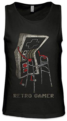 Urban Backwoods Retro Gamer Herren Männer Tank Top Training Shirt Schwarz Größe M