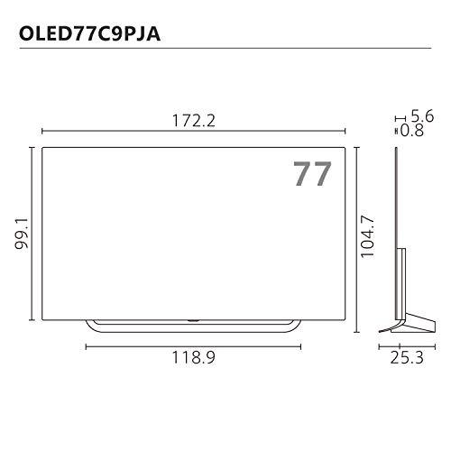 『LG 77V型 4Kチューナー内蔵 有機EL テレビ Alexa搭載 ドルビーアトモス 対応 TV OLED77C9PJA』のトップ画像