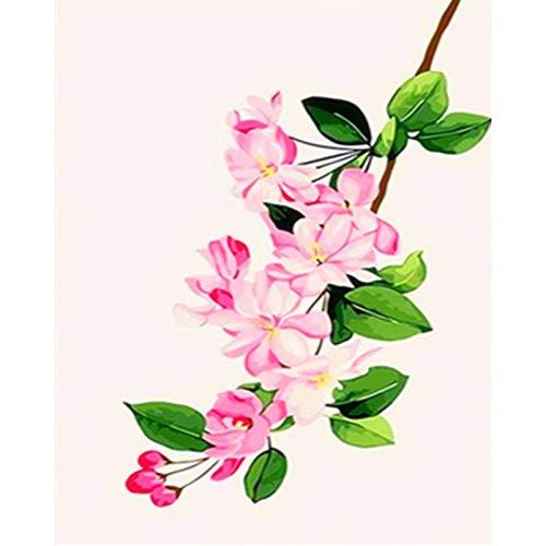 Lazodaer - Kit de pintura de diamante en 5D por número, taladro redondo completo, bordado de diamantes, arte para decoración de la pared del hogar, hermosa flor de 30 x 39,9 cm