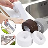 KOMIWOO 2 Pack Bathtub Caulk Strip PE Waterproof Self Adhesive Sealant Tape