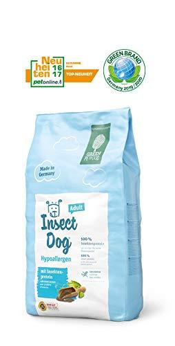 Green Petfood Insectdog Hypoallergen Adult - Getreidefrei/mit Insekten als Proteinquelle - 10 kg Hundefutter Trocken